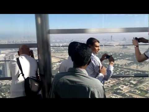 Dubai Burj Khalifa observation deck at the top