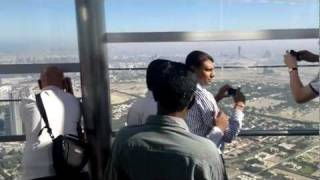 Dubai Burj Khalifa observation deck at the top
