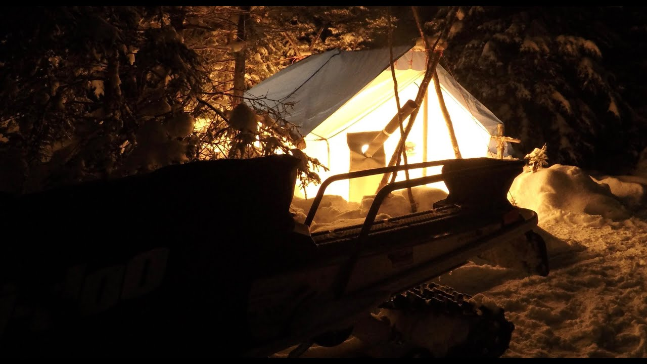 Download Canvas Hot Tent Winter Camping In Newfoundland Canada