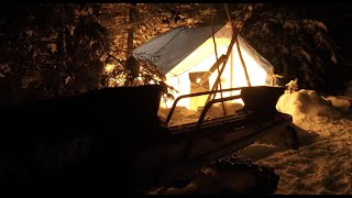 Canvas Hot Tent Winter Camping In Newfoundland Canada