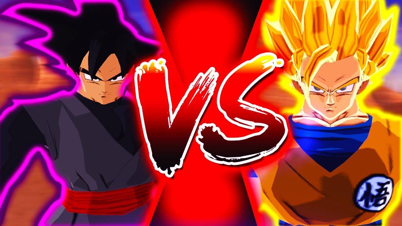 Black Goku Vs Super Saiyan 2 Goku