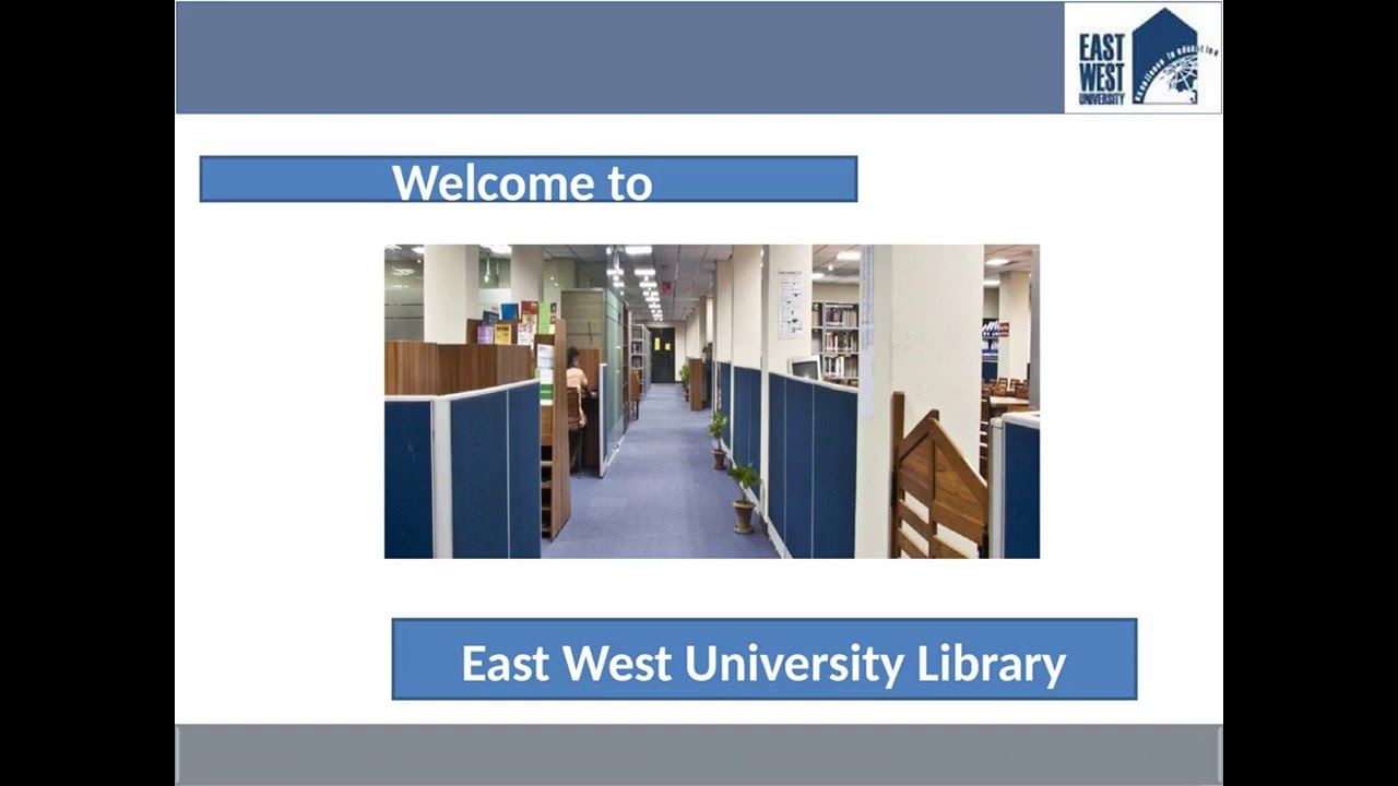 east west university library ewu library bangladesh youtube. Black Bedroom Furniture Sets. Home Design Ideas