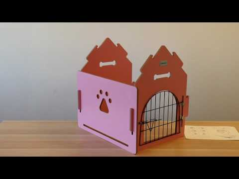 Ollieroo Wooden Indoor Dog House for Small Dogs/Cats with Door and Bed Mat