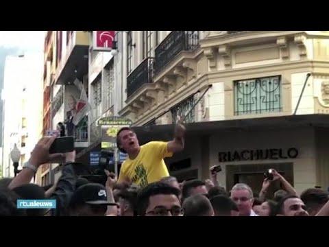 Braziliaanse Politicus Tijdens Campagne Neergestoken