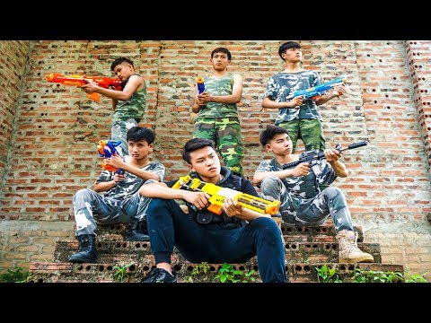 Hihahe Nerf War: SWAT & Police Task Force Nerf Combat Insurgent Team Nerf Movies