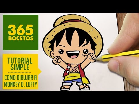 Como Dibujar A Luffy De One Piece Kawaii Paso A Paso