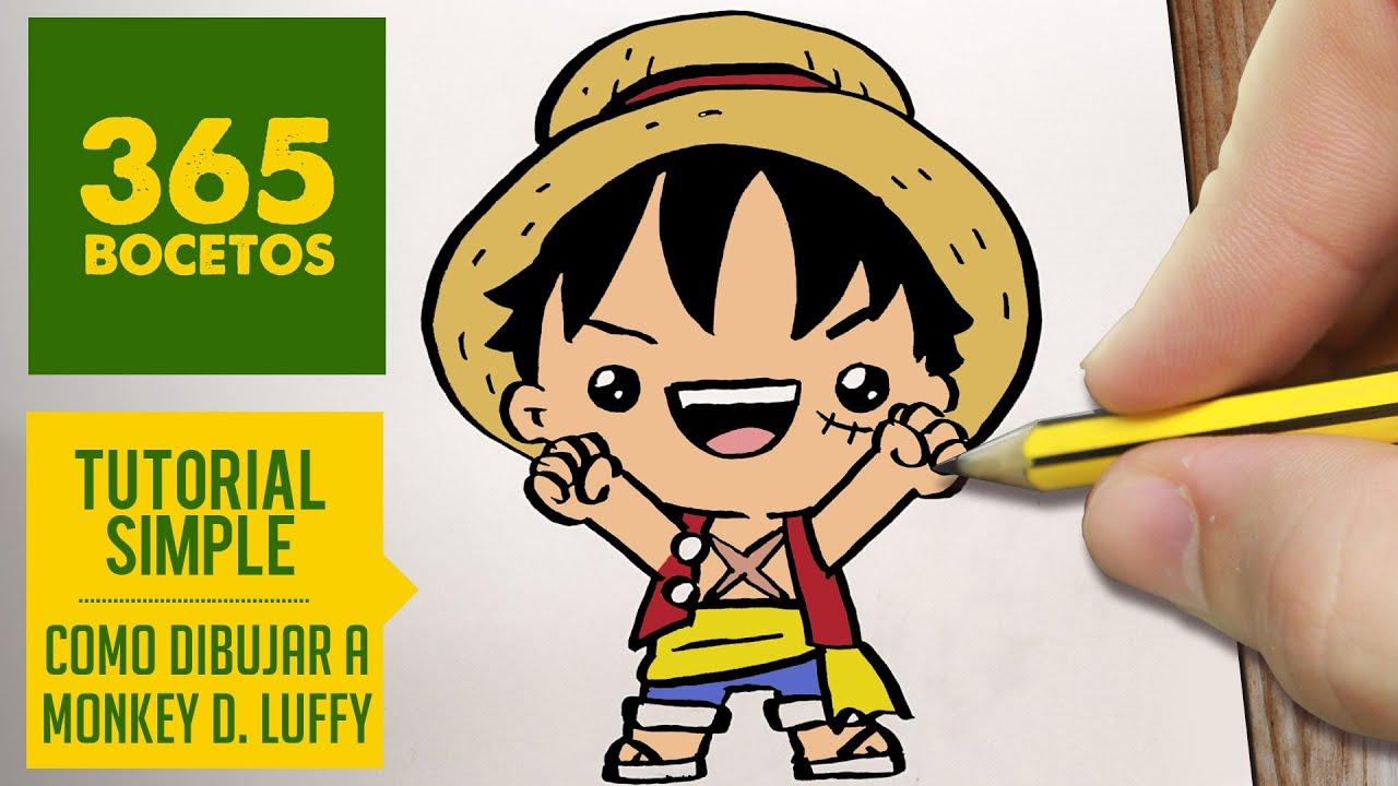 Como Dibujar A Luffy De One Piece Kawaii Paso A Paso Dibujos Kawaii Faciles