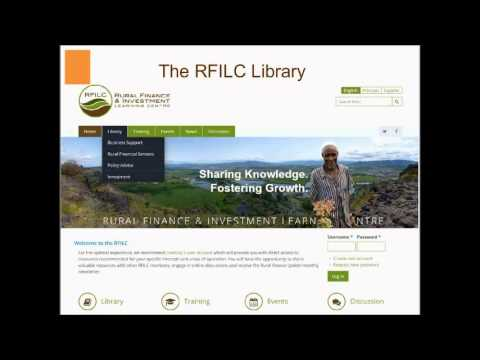 Agrifin Webinar | Introducing Rural Finance and Investment Learning Centre