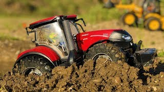 BRUDER RC tractor in trouble! Tractor stuck in the MUD! Action video for kids