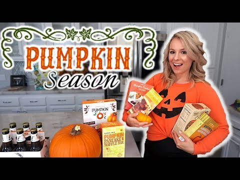 Pumpkin EVERYTHING Trader Joes Haul: Part 1