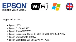 How to set-up Epson printers to use Wi-Fi 2013 (Win EN)