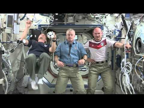 Space station crew talks up World Cup Soccer