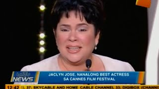 Jaclyn Jose, nanalong best actress sa Cannes Film Festival