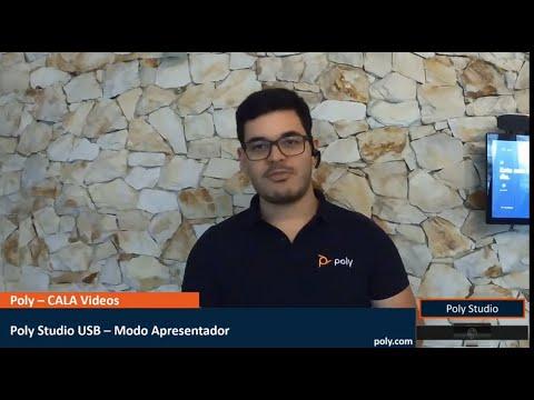 Demonstração do Modo Apresentador  Um recurso do Poly Studio USB - Português