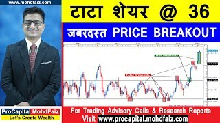टाटा शेयर @ 36 जबरदस्त PRICE BREAKOUT   Latest Share Recommendations