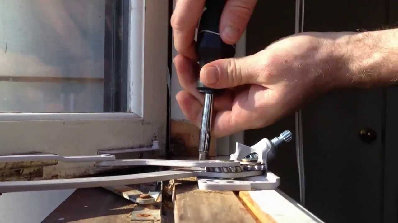 how to replace a casement window crank operator youtube