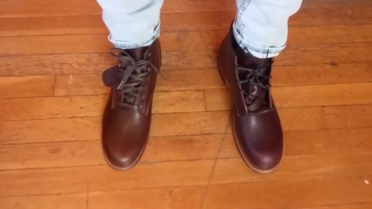 57575960784 wolverine 1000 mile vs red wing beckman on feet comparison