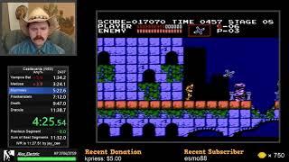 Castlevania NES speedrun in 11:38 by Arcus