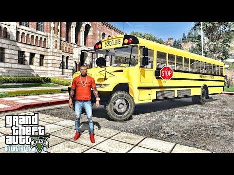 GTA 5 REAL LIFE MOD #665 - BUS DRIVER(GTA 5 REAL LIFE MODS)