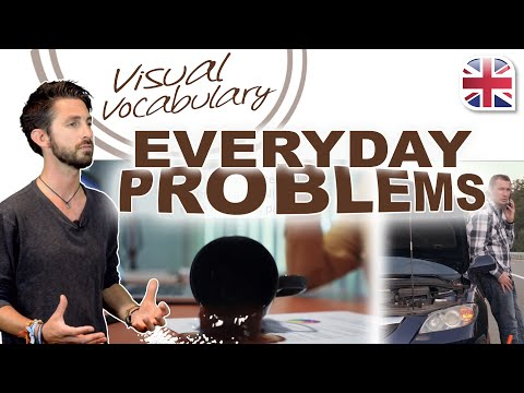 22 Phrases to Talk About Everyday Problems in English - Visual Vocabulary Lesson