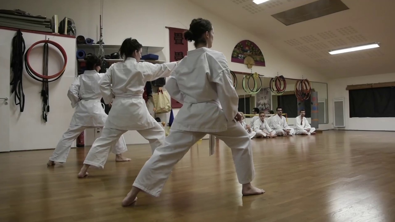 fce88abb97f0 passage ceinture jaune karate do shotokan - YouTube