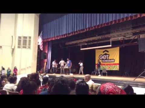 Get Schooled- Kendrick Lamar with 106&Park Crew in Mount Pleasant High School, RI