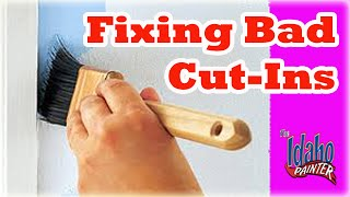 Cutting in tips and interior painting tips using a paint brush. If ...