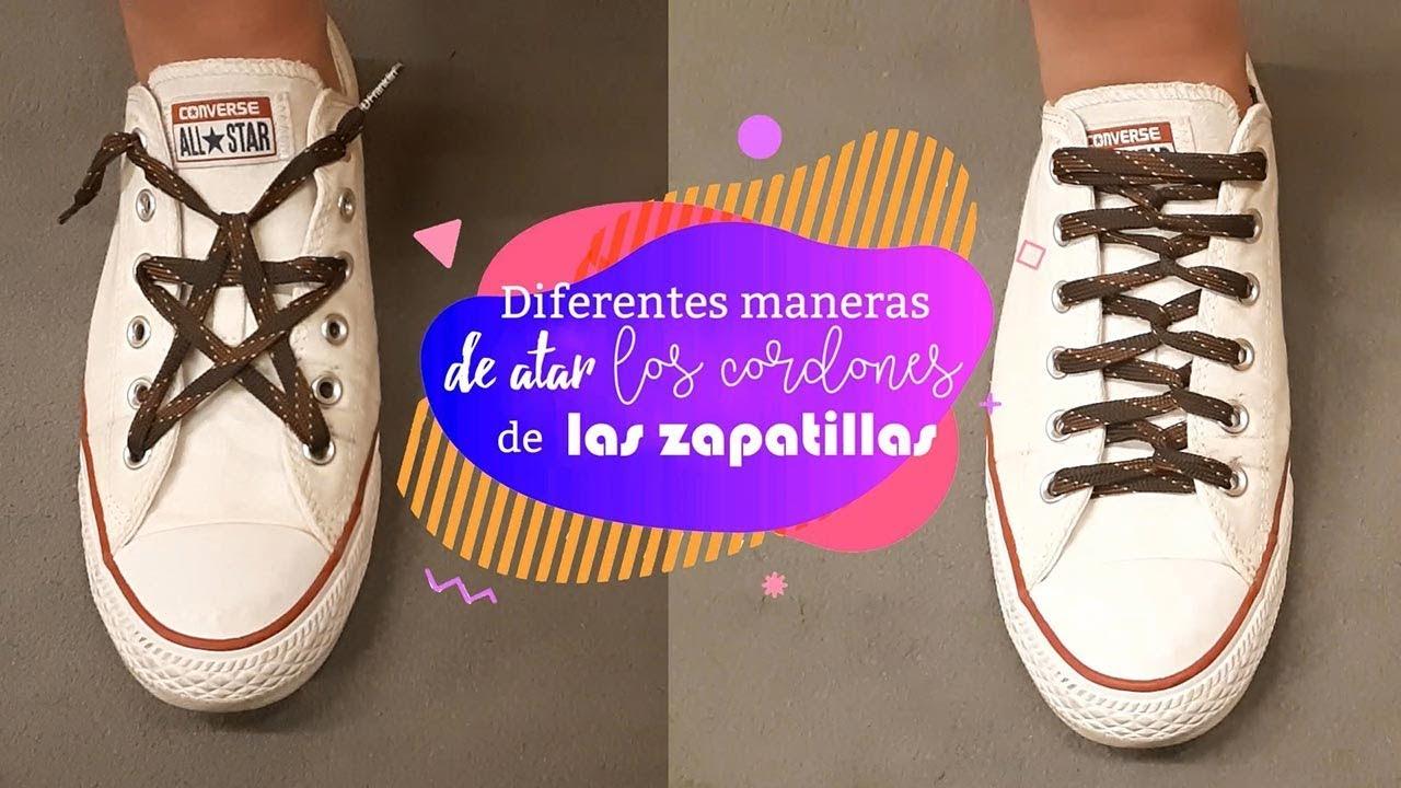verdad Mala suerte bruscamente  Formas originales de atar los cordones de las zapatillas (¡lazada en  ESTRELLA!) - YouTube