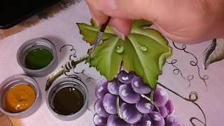 Folha da Uva – Pintura em Tecido