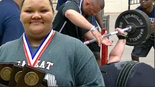 STRONGEST High School Girl in America ?? : 17 year Old Lexi Harris Cleburne High (TX)