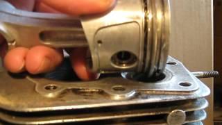 remontage piston segment .moteur bernard w 328 .segment cylindre.