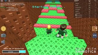 Jugué Minecraft en Roblox: Feat (mi amigo)