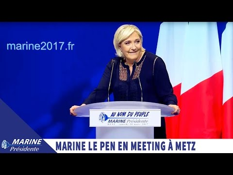 Marine Le Pen en meeting à Metz (18/03/2017) I Marine 2017