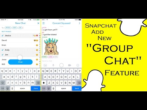 Snapchat Add New Group Chat Feature YouTube