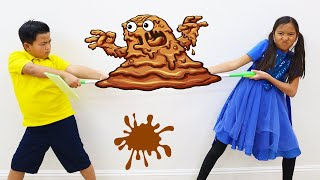 Wendy and Alex Make a Mess and Clean Up with Cleaning Toys for Kids
