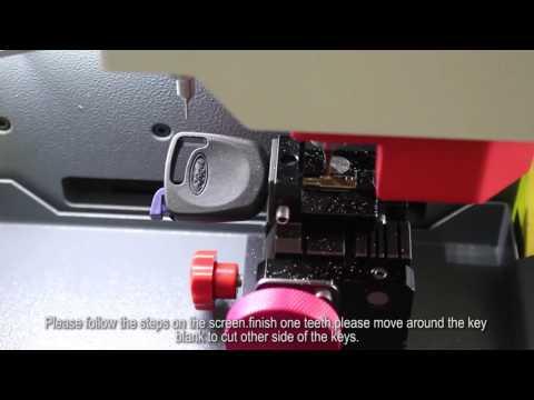 How to copy a Ford Tibbe key on SEC E9 key cutting machine