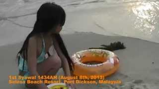 1st Syawal 1434AH (Aug 8, 2013) at PD Selesa Resort Beach  video 1 of 5