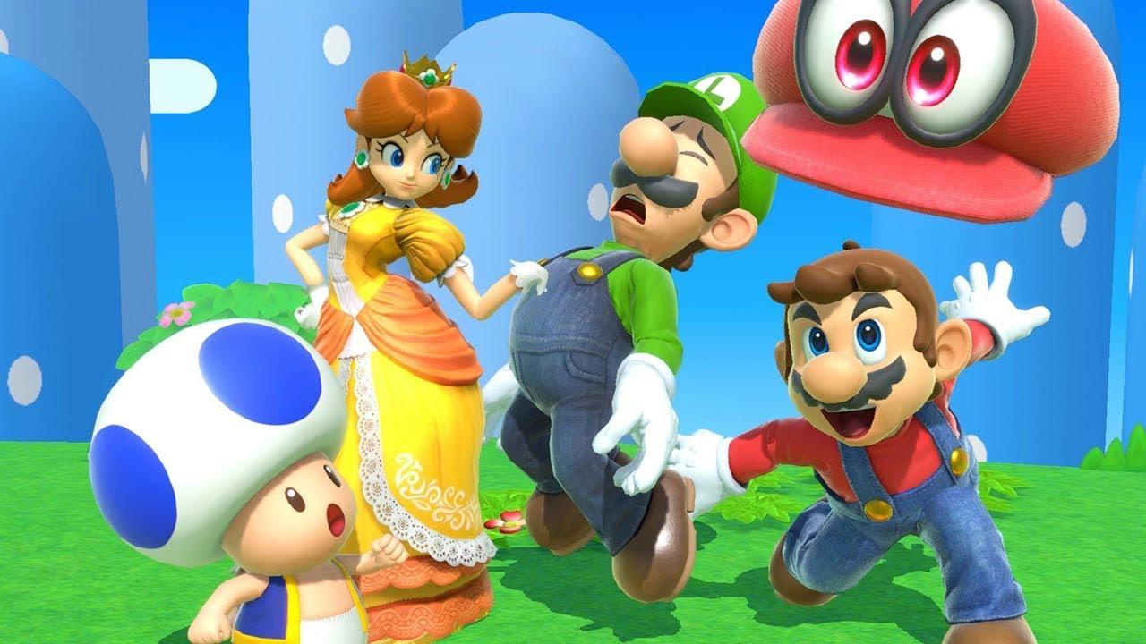 Super Mario 8-Player Battle - Super Smash Bros. Ultimate - YouTube