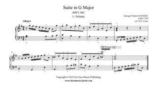 Handel : Prelude HWV 442