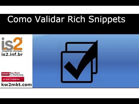 Como Validar Rich Snippets