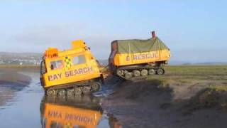 Bay Sar Hagglund Bv206 Driver Training On Morecambe Bay