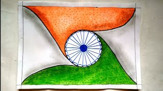 Unique drawing for republic day || republic day drawing easy || republic day drawing watercolor