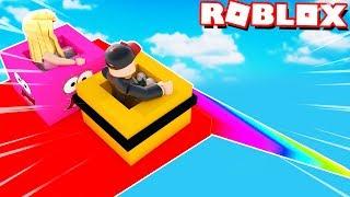 GO DOWNHILL 999,999,999 METRES down in ROBLOX! | Vito and Bella