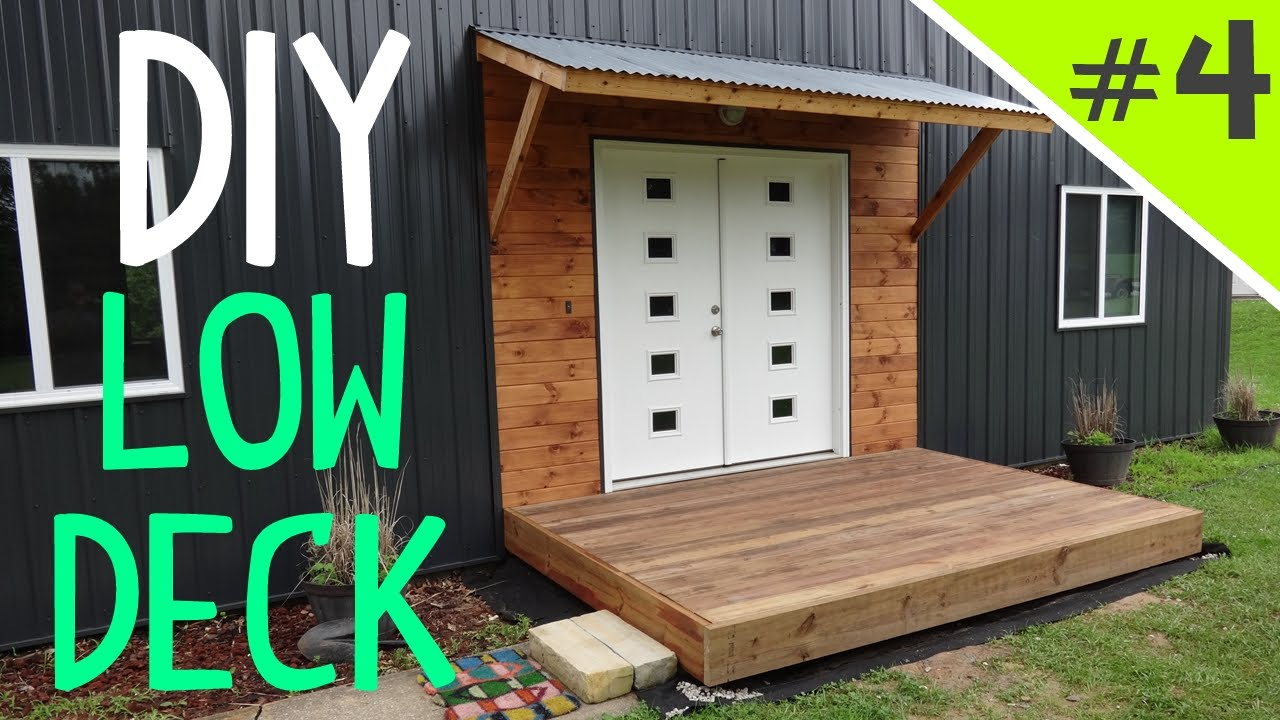 How To Build A Ground Level Floating Deck Part 4 Of 5