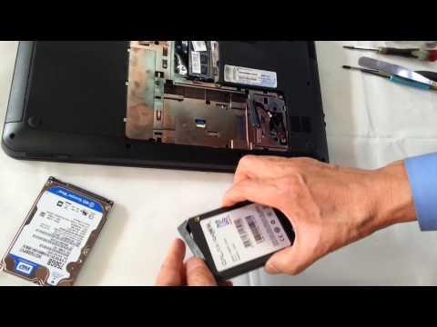 노트북 HDD SSD 교체장착하는법 케이스여는분�