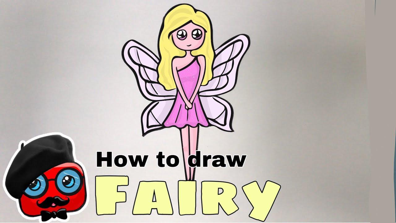How To Draw A Fairy Cok Kolay Peri Kizi Cizimi Kolay Resimler