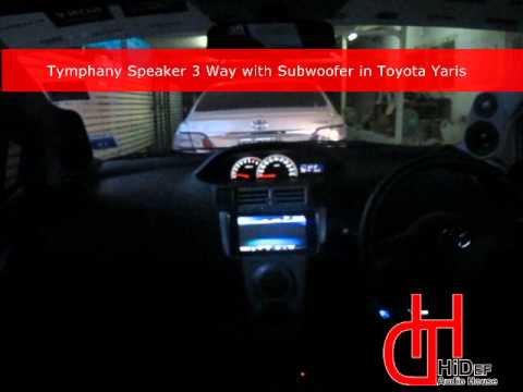 Tymphany Speaker 3 way with subwoofer in Toyota Yaris