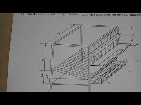 Клетка для перепелов размеры чертеж своими руками