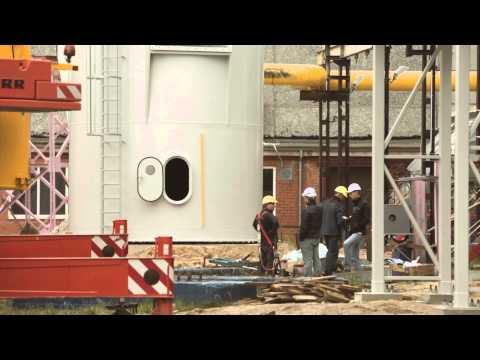 Поставка и монтаж 50-метровой дымовой трубы для теплоцентрали ТЭЦ-2 в Риге