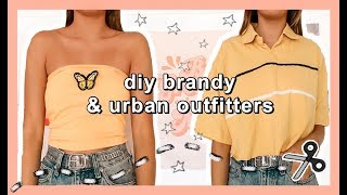 thrift flip: DIY BRANDY MELVILLE + URBAN OUTFITTERS (summer try-on haul)